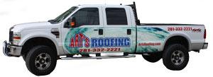 Art's Roofing Truck
