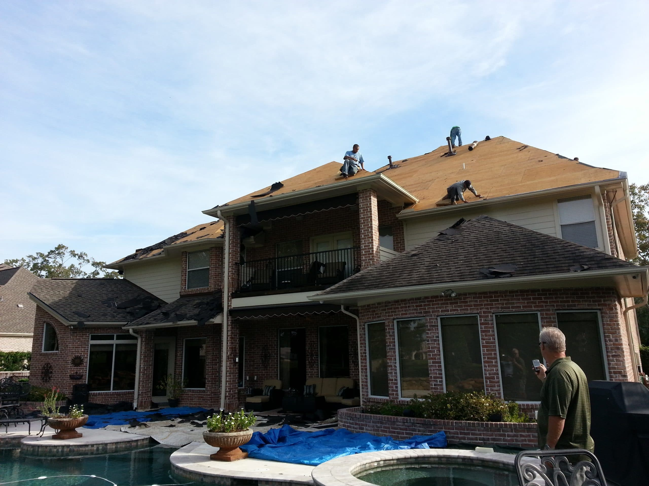 Galveston TX roof install