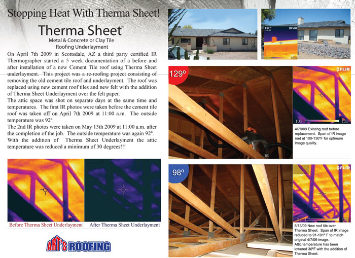 Therma Sheet spces